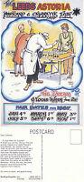 1987 LEEDS ASTORIA POSTCARD CLUB FAIR ADVERTISING POSTCARD UNUSED (a)