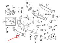 Lexus Is XE20 avant Pare-Choc Bas Grille 5311353030 53113-53030 Neuf D'Origine