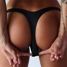 Women Brazilian Triangle Bikini Bottom V Thong G-String T-Back Swimsuit Swimwear