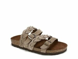 WHITE MOUNTAIN Holland Sandals Shoes Leather Women's Light Taupe Brown Tan 7 NEW