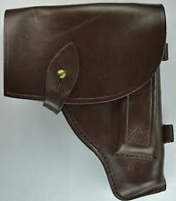 Russian Soviet 9x18 Makarov Pistol Holster Brown Leather /W Magazine Pouch