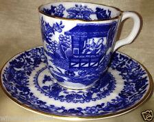 ROYAL WORCESTER BLUE BROSELEY DEMITASSE CUP & SAUCER 4 OZ BLUE ORIENTAL DECOR