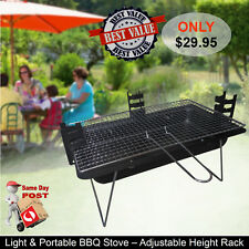Outdoor Folding Barbecue Stove Picnic Camping Fishing Grill Charcoal BBQ Parties