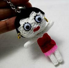 BETTY BOOP VOODOO KEYCHAIN SEXY RED DRESS MINI DOLL TOY STRING KEYRING COMIC NEW