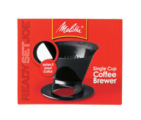 Melitta  Ready Set Joe  Programmable Pour-Over Coffee Brewer  1 cups Black
