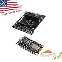 NodeMcu LUA ESP8266 ESP-12E CH340G WiFi Development Board V3 + Expansion Base US