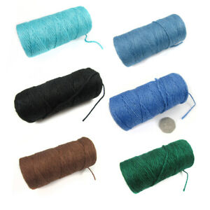 100 YARDS COLOURFUL HESSIAN CORD STRINGING ~FULL ROLL~ *17 COLOURS*  JUTE TWINE