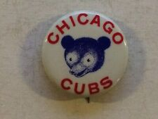 Vintage Baseball Pinback Pin 1940s Chicago Cubs 1.25 in