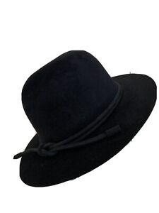Hermes Furfelt Hat Sz57 Black