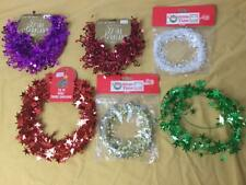 Christmas Star Treble Clef Wire Tinsel Garland Lot Purple Red Gold Green