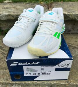 Babolat Tennis Shoe - Propulse BPM Womens All Court UK 4 New in Box! White/Green