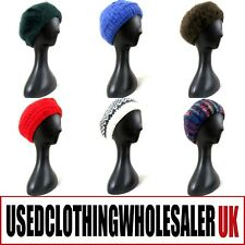 100 VINTAGE KNITTED WOOL WINTER HATS WOMEN'S WHOLESALE ACCESSORIES JOB LOT