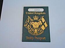 English Teddy Bear Company United Kingdom Teddy Passport
