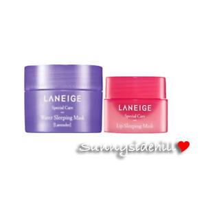 LANEIGE Good Night Sleeping Lip Mask 3g + Water Sleeping Mask Lavender 15ml SALE
