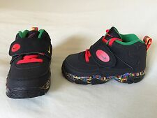 NEW SZ 7C NIKE MISSION TRAINER MULTI RED GREEN NEON BLACK INFANT TODDLER