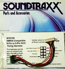 Soundtraxx NMRA Compatible 8-pin to 9 pin JST-style connector DCC wiring harness