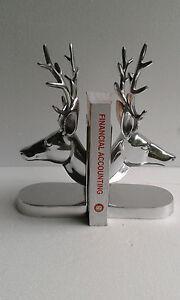 Aluminium Stag Head Bookend Deer Head Antelope Figurine Christmas New Year