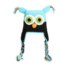 Newborn, Boys, Girls,  and Baby Crochet Knit Photography Photo Props Owl Hat USA