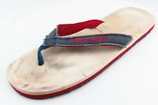 Converse Flip Flops Blue Fabric Women Shoes Size 11 Medium (B, M)