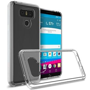 Fits LG G6 Case Shockproof Slim Transparent Clear Flexible Impact Rubber Cover