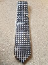 NEW in Packaging RENATO CASATI Navy and Silver Tie 100% Silk Made in Italy