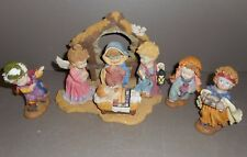 Christmas Nativity Scene Ceramic Figurines - 4pc Set