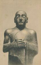 British Museum Dolerite Figure Sumerian City Ancient Religion Vintage Post Card