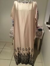 NUDE COLOURED SATIN MAXI CAFTAN KAFTAN MADE IN AUSTRALIA plus size 14-24