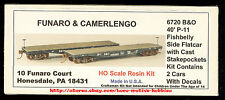 LMH Funaro F&C 6720  BALTIMORE OHIO  P-11 B&O Fishbelly Side Flatcars  2-CAR KIT