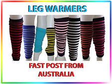 Ladies Girls Leg Warmers Striped Winter Warm Fashion Leggings retro style warmer