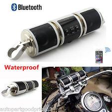 Waterproof LCD Motorcycles Audio Radio Sound Stereo Speaker USB/AUX Bluetooth