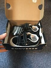 Converse All Star Toddler Velcro BNWT UK 4 LOOK