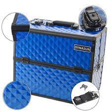DynaSun BS38 XXL Blue Beauty Case Vanity Cosmetic Make Up Organizer Storage Box