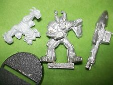 WARHAMMER40K CHAOS SPACE MARINE KHORNE  RENEGADE WITH MISSILE LAUNCHER   LOT N