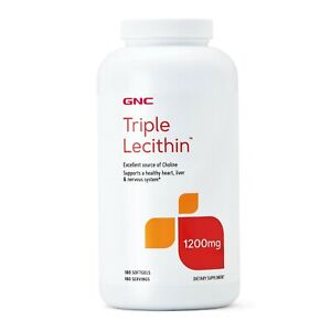 GNC Triple Lecithin, 1200 mg, 180 Softgels