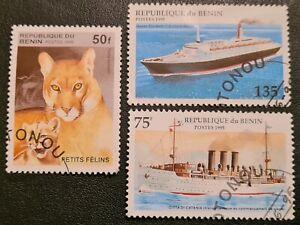 DUZIK: Republic Of Benin Used 'Set Of 3' Stamps (No.078)