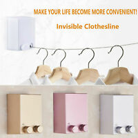 Indoor Wall Mounted Retractable Clothesline Drying Rack Multiple Color Outdoor