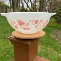 Pyrex Pink White Gooseberry 443 Cinderella 2 1/2 Qt Mixing Bowl Read Listing