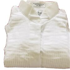 Women's White Pleated Tuxedo Shirt. Lady Martino by Henry Segal. Size 12