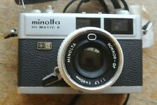 Minolta HI-Matic E Rokkor QF 40mm 1:1.7  lens  Rangefinder Camera NICE WORKING