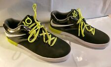 Nike KD Leather Black White Sole Sneakers Size Y7