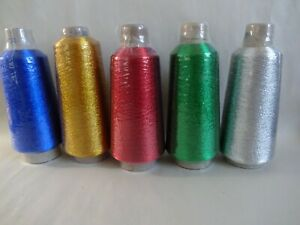 Rod Building Wrapping Solid Colored 4oz spools Metallic winding thread