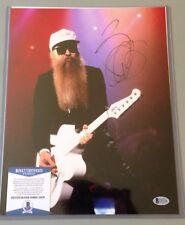 Billy Gibbons ZZ Top signed 11x14 photo with Beckett Authentication COA Legs, Sh