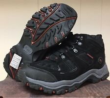 New GH BASS PANTHER Waterproof HIKING Work Boots Mens 8 Black Suede Leather $129