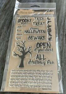 New My Creative Time Spooky Time Stamp Set With Matching Thinlits Dies