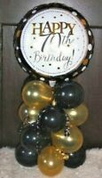 FOIL BALLOON AGE 70 70th BIRTHDAY TABLE DECORATION DISPLAY AIRFILL B&G