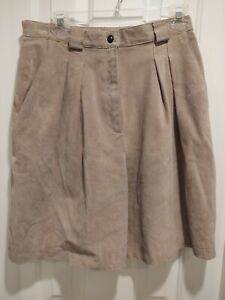 BROOKS BROTHERS WOMEN SUEDE dress Shorts SIZE 13/14  Lined
