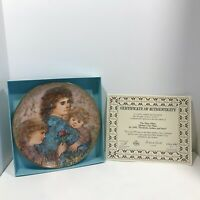 "Edna Hibel Mother's Day Plate For 1990, ""Elizabeth, Jordan, and Janie""; 1833C"
