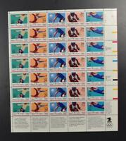 US SCOTT 2637 - 2641 PANE OF 35 OLYMPIC SUMMER GAMES STAMPS 29 CENT FACE MNH