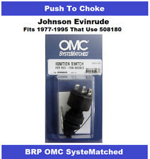OEM BRP OMC Johnson Ignition Key Switch Push to Choke 508180 - Most 1977-1995